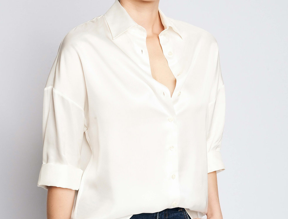 Loose Shirt White Viscose