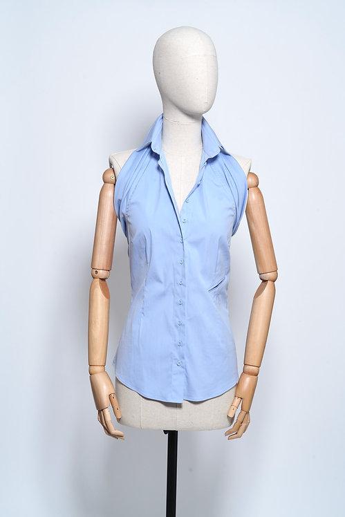 Halter Shirt Light Blue