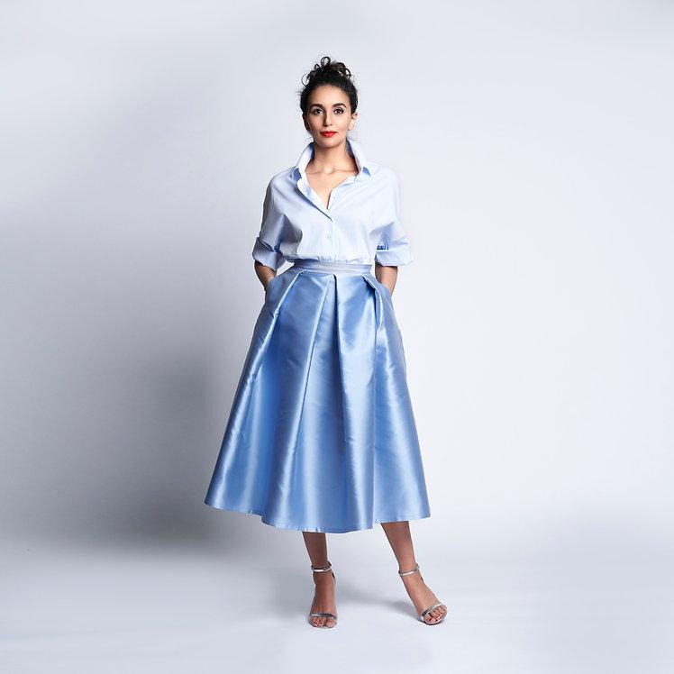 Sofia Skirt Light Blue