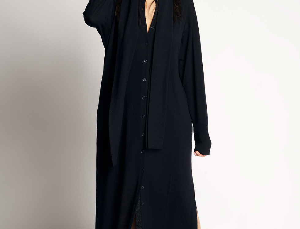 Tunic Knit Long Dark Blue