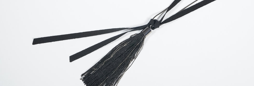 Necklace With Tassel Black