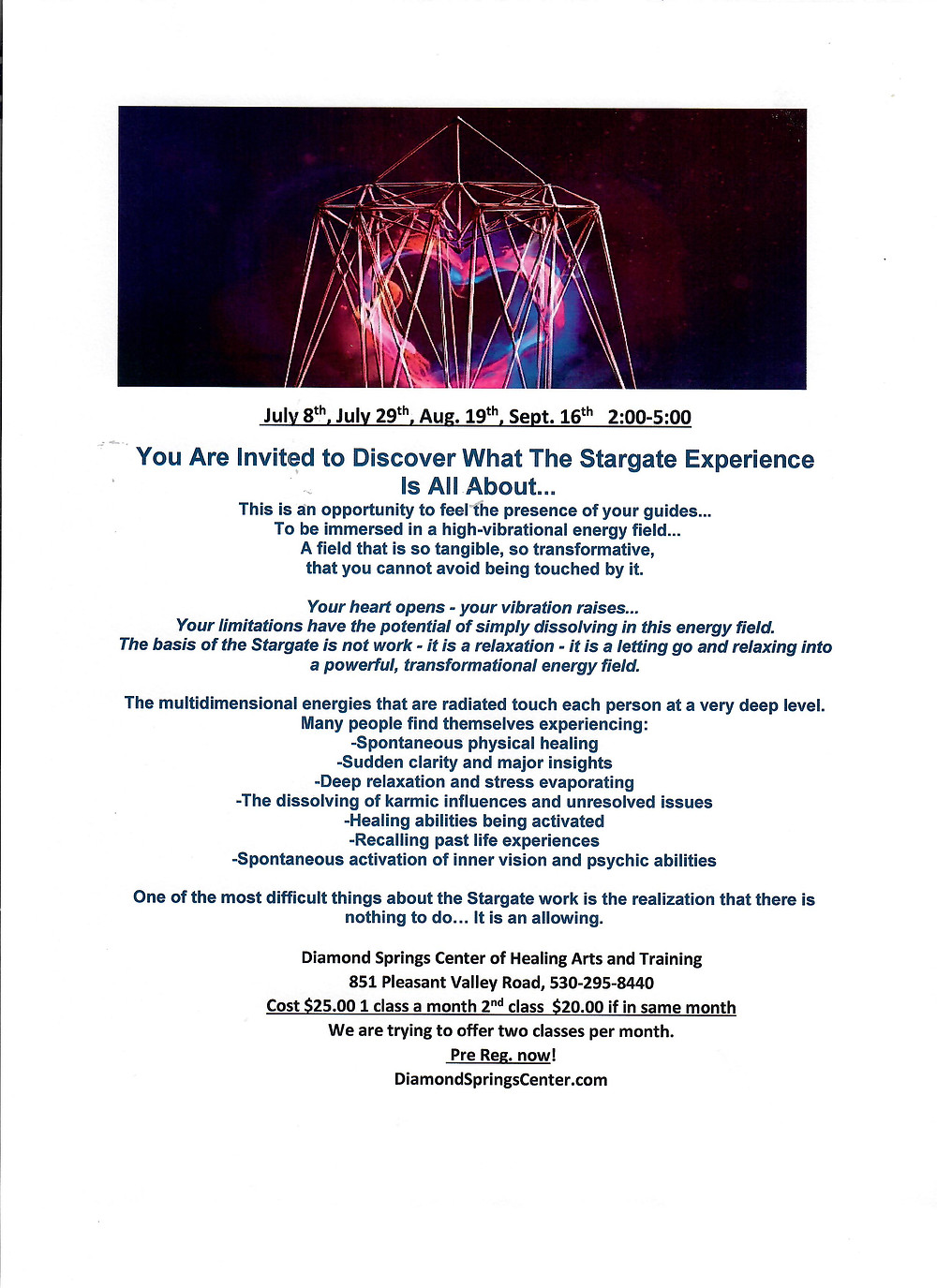 the stargate experience, enter the quantum realm of all possibility