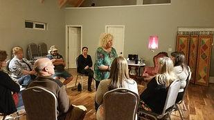 Drum making workshop at the Diamond Springs Center