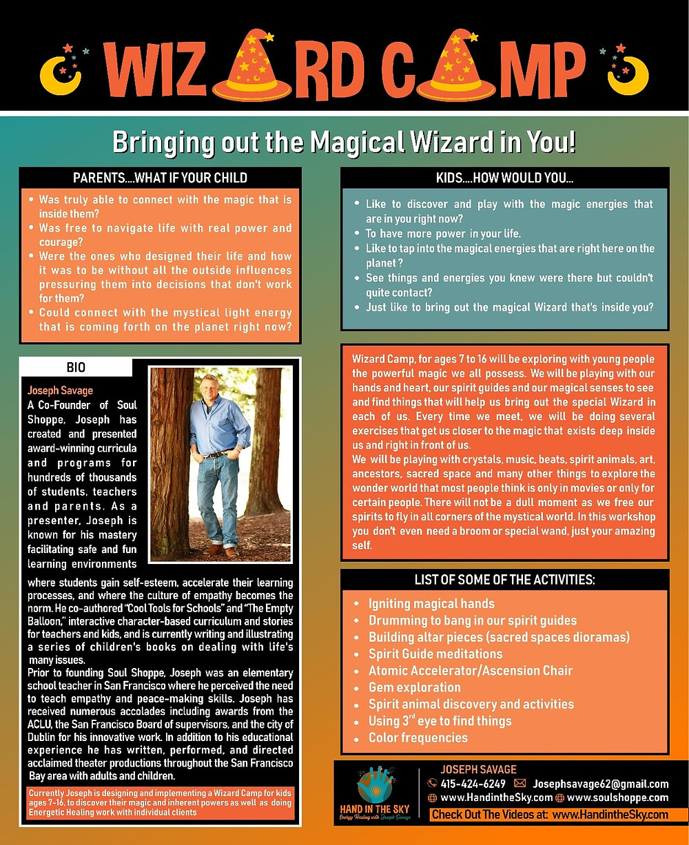 Wizard camp for kids