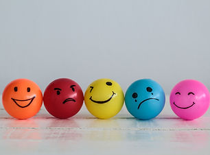 Emotions balls background, Happy Smiley