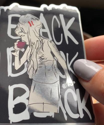 Amy Winehouse Sticker Design By Tesoro Carolina