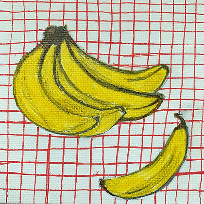 Bananas #5 original acrylic painting