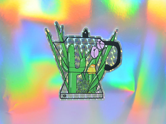 Cafetera Holographic  Sticker