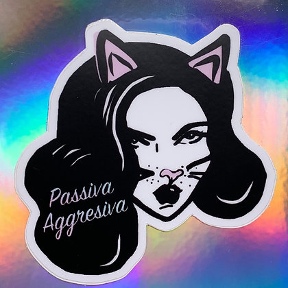 Passiva Aggressiva Kitty Sticker