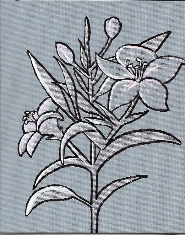 Study of Flowers by Tesoro Carolina