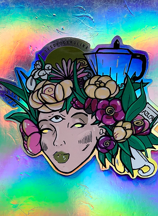 Morning Glory  Holographic Sticker