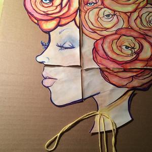 Post cards from the Edge Mixed Media Painting by Tesoro Carolina