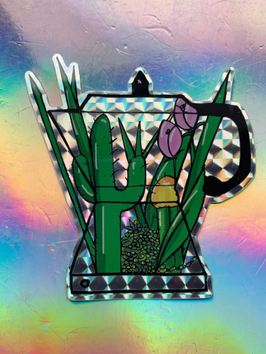 Cuban Cafetera Sticker Design By Tesoro Carolina