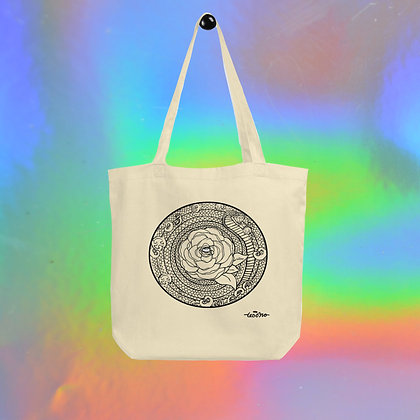 Rose Mandala Eco Tote Bag  by Tesoro Carolina