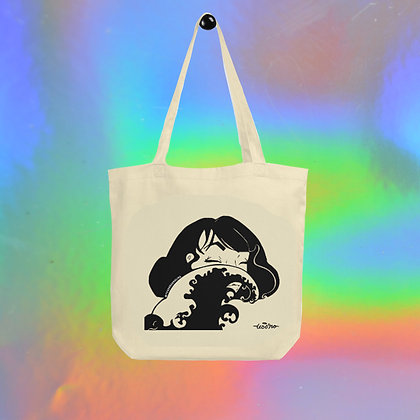 Woman in the Wave Tote Bag by Tesoro Carolina