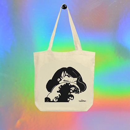 Woman in the Wave Tote Bag by Tesoro Carolina