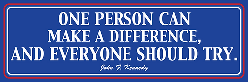 "JFK Bumper Sticker - 9""x3"""