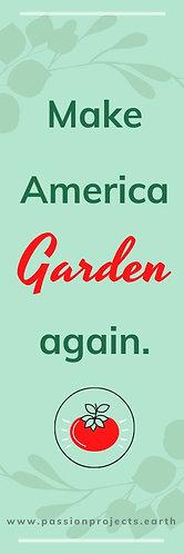 """Garden 1""""x3"""" Sticker - (5 pack)"""