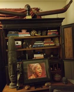 Nina Simone on the wall