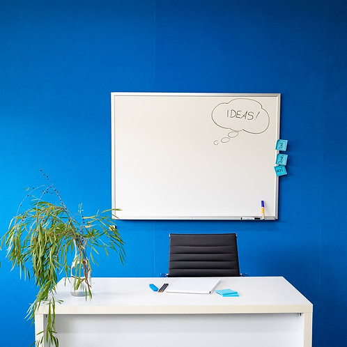Wall Mounted Porcelain Enamel Whiteboards (Standard Frame)