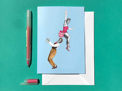 The Popover Lindy Hop Greetings Card with White Envelope