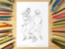 Lindy Hop Swivels Colouring Sheet