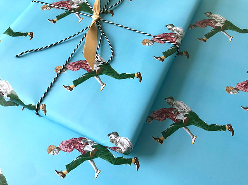 Pimped-up Charleston Lindy Hop Gift Wrap Wrapped Present Detail