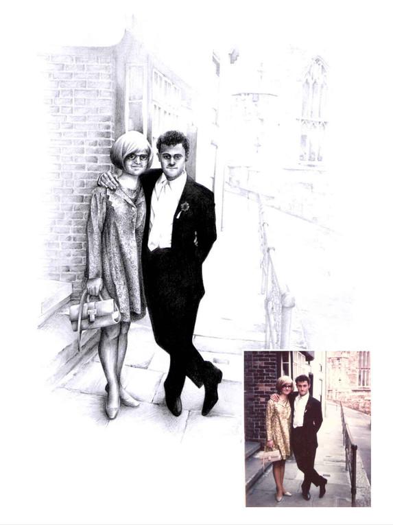 Pencil Portrait - Wedding Anniversary