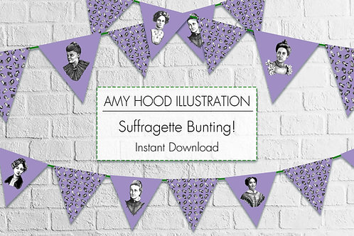 Suffragettes Bunting Kit