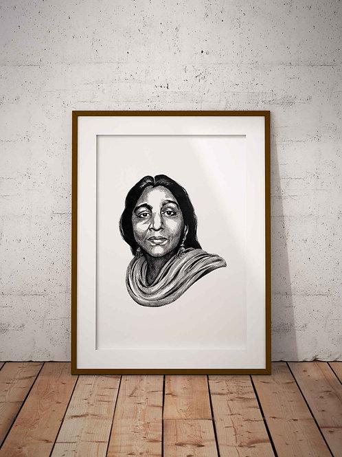 Sarojini Naidu Print