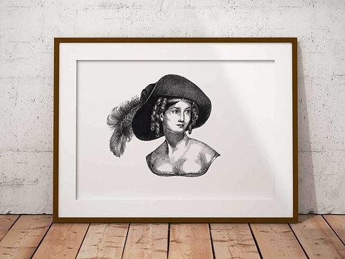 Letitia E Landon Art Print Plain Background