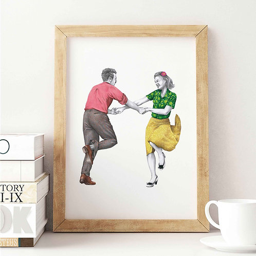 Knees Up Art Print Front View