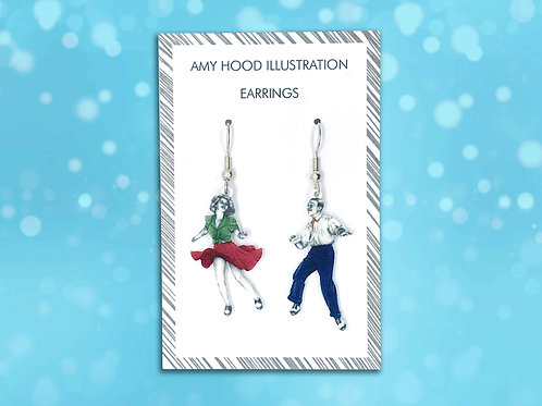 Tacky Annies Lindy Hop Earrings Front View