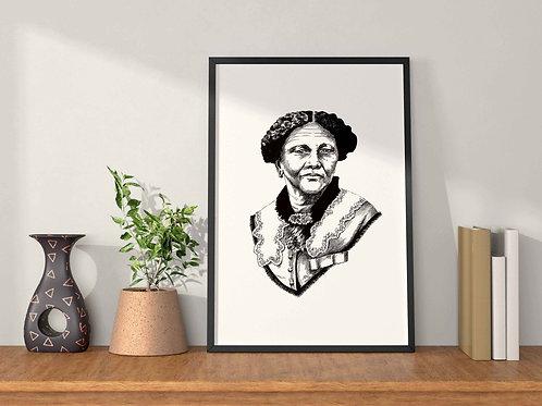 Mary Seacole Feminist Art Print Plain Background