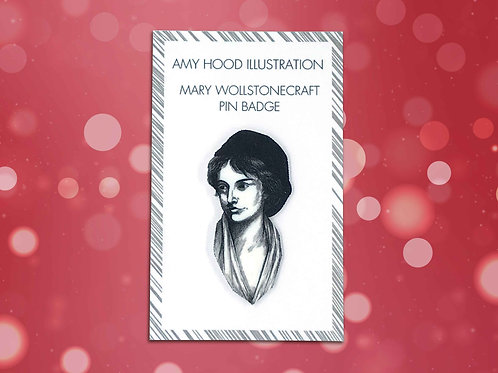 Mary Wollstonecraft Feminist Pin Badge Front View