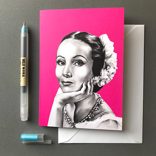 Dolores del Río Greetings Card