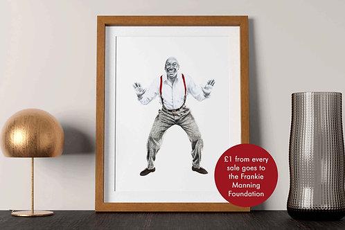 Frankie Manning Lindy Hop Art Print with Flash
