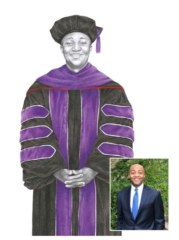 Pencil Portrait - The Graduate
