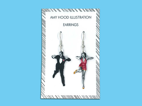 Jazz Hands Lindy Hop Earrings Front View