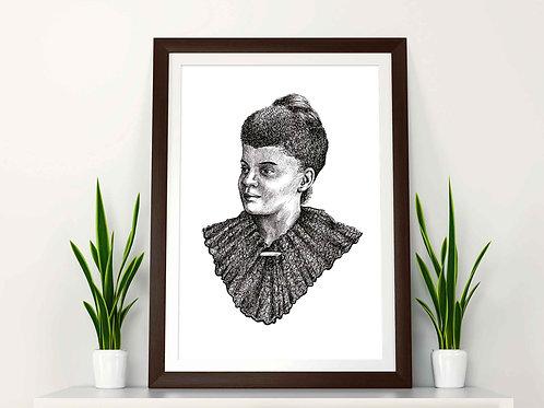 Ida B Wells Art Print