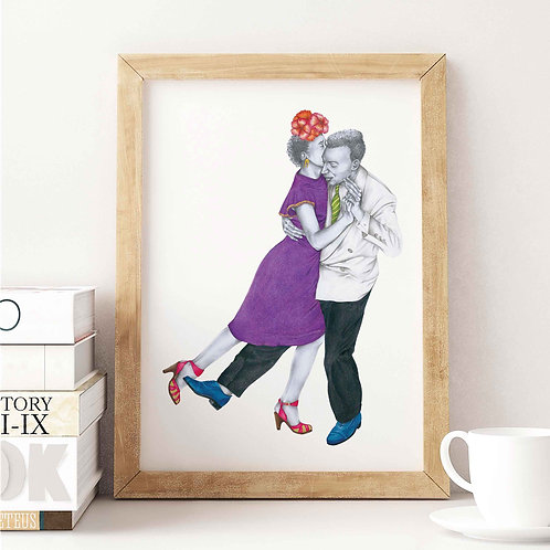 Dancing Cheek to Cheek Art Print Front View