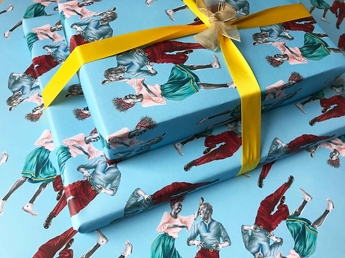 That Friday Feeling Lindy Hop Gift Wrap Wrapped Present Detail