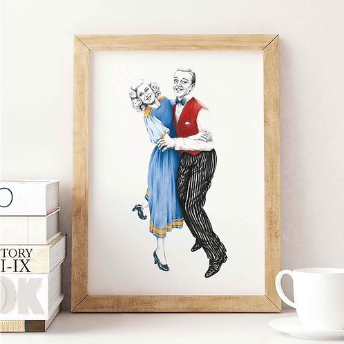 Fred & Ginger Art Print Front View