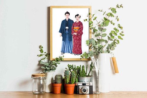 Japan - Costumes of the World Art Print