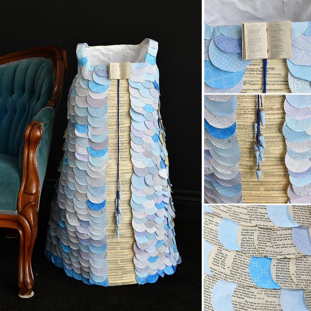 Liza MacKinnon mixed media paper art dress Ariel The Tempest Shakespeare