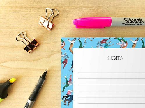 Lindy Hoppers Notepad Detail