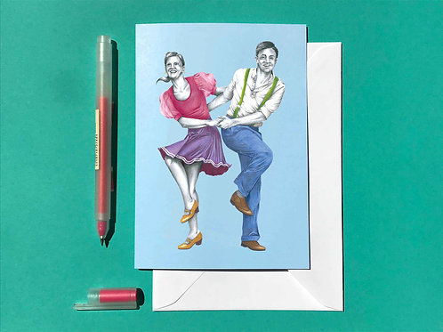 Collegiate Shag Greetings Card