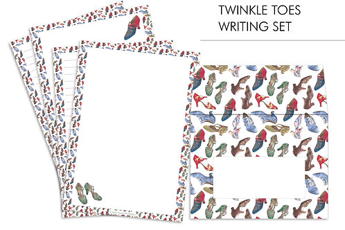 Twinkle Toes Vintage Fashion Letter Writing Paper Set