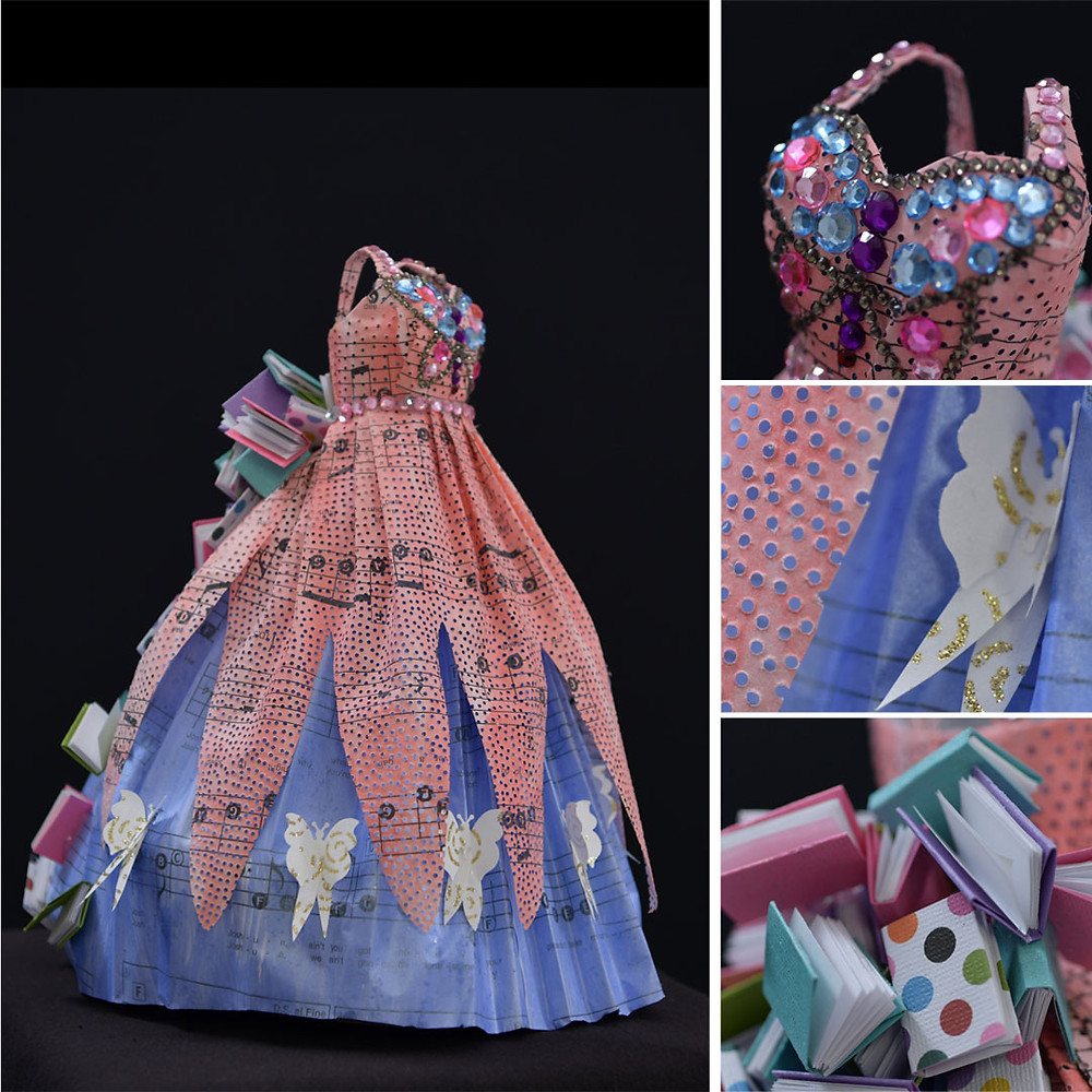 Dolly Parton Liza MacKinnon handmade Paper and Mixed Media Dress