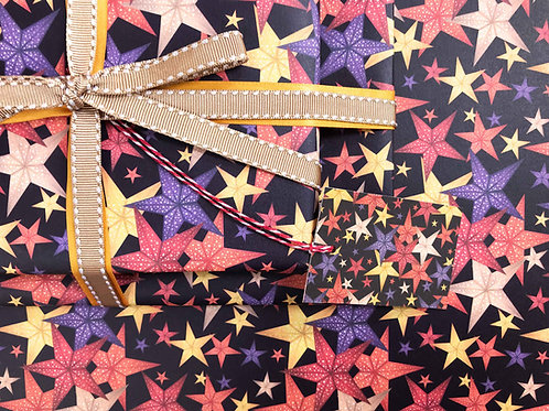 Christmas Paper Star Lanterns Gift Wrap Detail